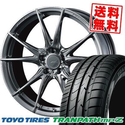 225/50R18 95V TOYO TIRES トーヨー タイヤ TRANPATH mpZ トランパス mpZ WEDS F ZERO FZ-2 ウェッズ エフゼロ FZ-2 サマータイヤホイール4本セット