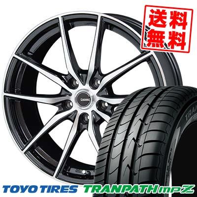豪華 215/45R18 TOYO TIRES トーヨー タイヤ TRANPATH mpZ トランパス mpZ G.Speed P-02 Gスピード P-02 サマータイヤホイール4本セット【取付対象】, オンラインショップ e-金物 b11b59db