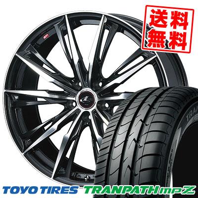 215/55R17 94V TOYO TIRES トーヨー タイヤ TRANPATH mpZ トランパス mpZ WEDS LEONIS GX ウェッズ レオニス GX サマータイヤホイール4本セット