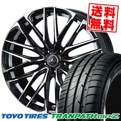 215/45R17 91W TOYO TIRES トーヨー タイヤ TRANPATH mpZ トランパス mpZ WEDS LEONIS SK ウェッズ レオニスSK サマータイヤホイール4本セット