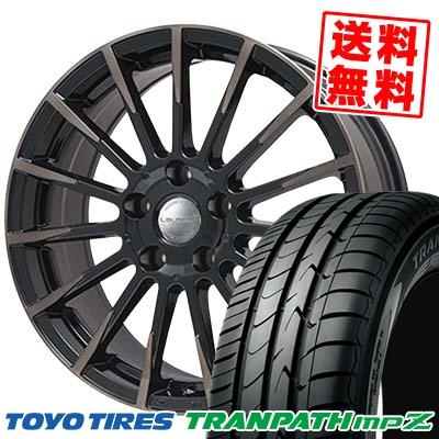215/55R18 TOYO TIRES トーヨー タイヤ TRANPATH mpZ トランパス mpZ Leyseen F-XV レイシーン FX-V サマータイヤホイール4本セット