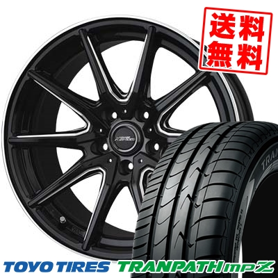 215/45R18 93W TOYO TIRES トーヨー タイヤ TRANPATH mpZ トランパス mpZ CROSS SPEED PREMIUM RS10 クロススピード プレミアム RS10 サマータイヤホイール4本セット