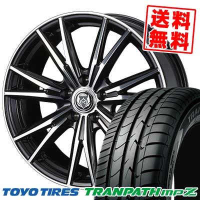 215/45R18 93W TOYO TIRES トーヨー タイヤ TRANPATH mpZ トランパス mpZ WEDS RIZLEY DK ウェッズ ライツレーDK サマータイヤホイール4本セット