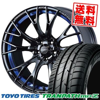 215/45R18 TOYO TIRES トーヨー タイヤ TRANPATH mpZ トランパス mpZ WedsSport SA-20R ウェッズスポーツ SA20R サマータイヤホイール4本セット