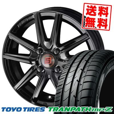 185/55R15 82V TOYO TIRES トーヨー タイヤ TRANPATH mpZ トランパス mpZ SEIN SS BLACK EDITION ザイン エスエス ブラックエディション サマータイヤホイール4本セット