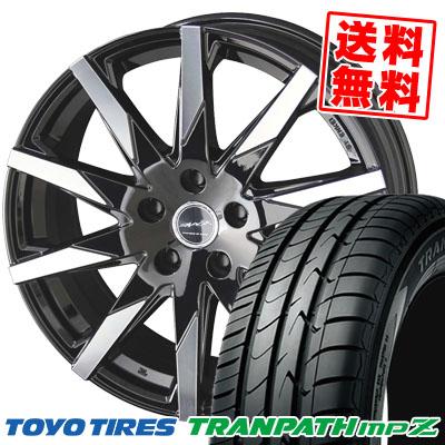 225/55R18 98V TOYO TIRES トーヨー タイヤ TRANPATH mpZ トランパス mpZ SMACK SFIDA スマック スフィーダ サマータイヤホイール4本セット