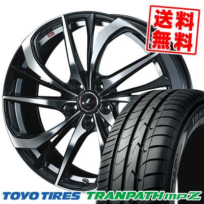 205/50R17 93V TOYO TIRES トーヨー タイヤ TRANPATH mpZ トランパス mpZ weds LEONIS TE ウェッズ レオニス TE サマータイヤホイール4本セット