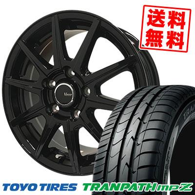 215/65R15 96H TOYO TIRES トーヨー タイヤ TRANPATH mpZ トランパス mpZ V-EMOTION BR10 Vエモーション BR10 サマータイヤホイール4本セット