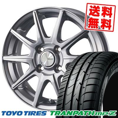 185/55R15 82V TOYO TIRES トーヨー タイヤ TRANPATH mpZ トランパス mpZ V-EMOTION SR10 Vエモーション SR10 サマータイヤホイール4本セット