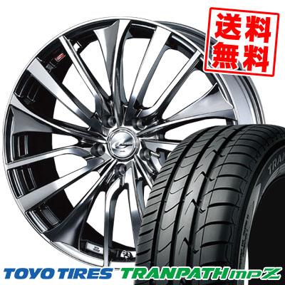 205/50R17 93V TOYO TIRES トーヨー タイヤ TRANPATH mpZ トランパス mpZ weds LEONIS VT ウエッズ レオニス VT サマータイヤホイール4本セット