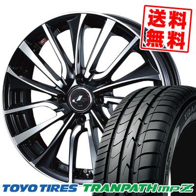 185/65R15 88H TOYO TIRES トーヨー タイヤ TRANPATH mpZ トランパス mpZ weds LEONIS VT ウエッズ レオニス VT サマータイヤホイール4本セット