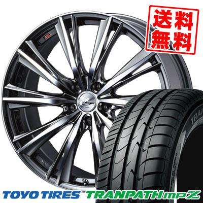 205/50R17 93V TOYO TIRES トーヨー タイヤ TRANPATH mpZ トランパスmpZ weds LEONIS WX ウエッズ レオニス WX サマータイヤホイール4本セット