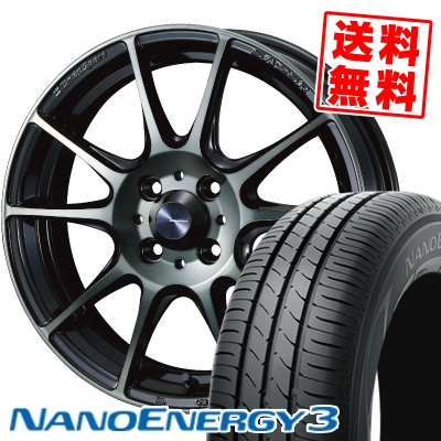 175/55R15 77V TOYO TIRES トーヨー タイヤ NANOENERGY3 ナノエナジー3 WedsSport SA-25R ウェッズスポーツ SA-25R サマータイヤホイール4本セット
