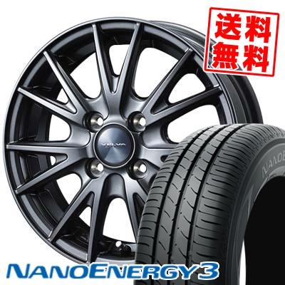 155/70R13 75S TOYO TIRES トーヨー タイヤ NANOENERGY3 ナノエナジー3 VELVA SPORT ヴェルヴァ スポルト サマータイヤホイール4本セット