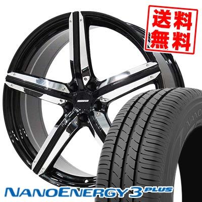215/35R18 TOYO TIRES トーヨー タイヤ NANOENERGY3 PLUS ナノエナジー3 プラス ESTATUS Style-CTR エステイタス スタイルCTR サマータイヤホイール4本セット