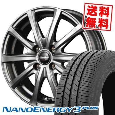 195/55R15 85V TOYO TIRES トーヨー タイヤ NANOENERGY3 PLUS ナノエナジー3 プラス Euro Speed V25 ユーロスピード V25 サマータイヤホイール4本セット