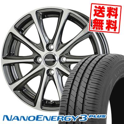 195/55R16 87V TOYO TIRES トーヨー タイヤ NANOENERGY3 PLUS ナノエナジー3 プラス Laffite LE-04 ラフィット LE-04 サマータイヤホイール4本セット