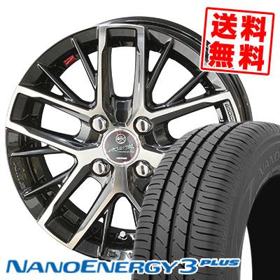185/65R15 88S TOYO TIRES トーヨー タイヤ NANOENERGY3 PLUS ナノエナジー3 プラス SMACK REVILA スマック レヴィラ サマータイヤホイール4本セット