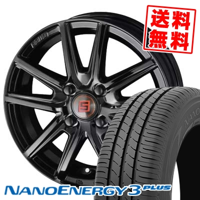185/55R15 82V TOYO TIRES トーヨー タイヤ NANOENERGY3 PLUS ナノエナジー3 プラス SEIN SS BLACK EDITION ザイン エスエス ブラックエディション サマータイヤホイール4本セット