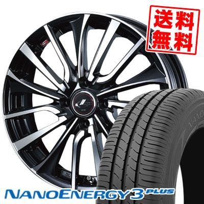 185/70R14 88S TOYO TIRES トーヨー タイヤ NANOENERGY3 PLUS ナノエナジー3 プラス weds LEONIS VT ウエッズ レオニス VT サマータイヤホイール4本セット