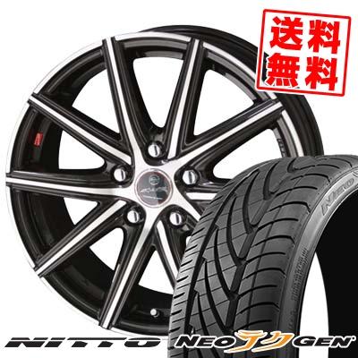 215/40R18 89W NITTO ニットー NEO GEN ネオゲン SMACK PRIME SERIES VANISH スマック プライムシリーズ ヴァニッシュ サマータイヤホイール4本セット