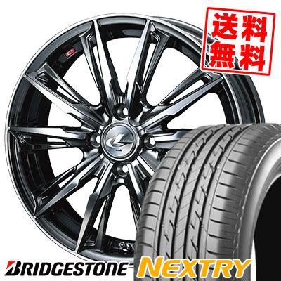 165/50R16 75V BRIDGESTONE ブリヂストン NEXTRY ネクストリー WEDS LEONIS GX ウェッズ レオニス GX サマータイヤホイール4本セット