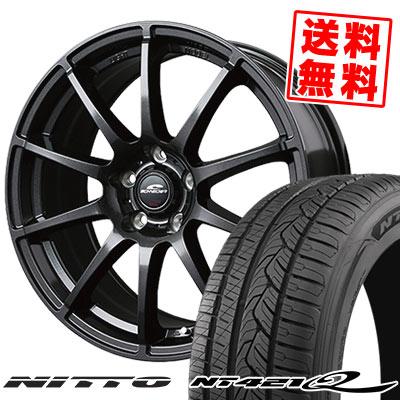 235/60R18 107W XL NITTO ニットー NT421Q NT421Q SCHNEDER StaG シュナイダー スタッグ サマータイヤホイール4本セット