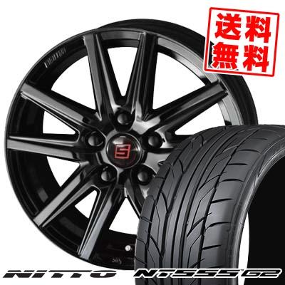 215/40R18 89W XL NITTO ニットー NT555 G2 NT555 G2 SEIN SS BLACK EDITION ザイン エスエス ブラックエディション サマータイヤホイール4本セット
