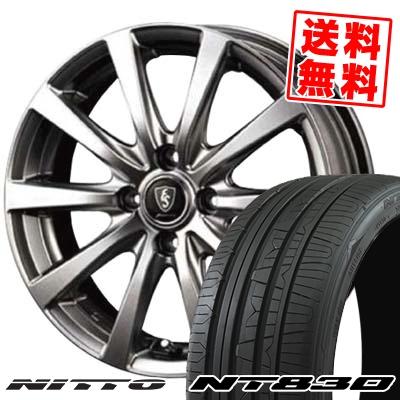 165/55R15 75V NITTO ニットー NT830 NT830 Euro Speed G10 ユーロスピード G10 サマータイヤホイール4本セット