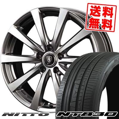 215/45R17 91W NITTO ニットー NT830 NT830 Euro Speed G10 ユーロスピード G10 サマータイヤホイール4本セット