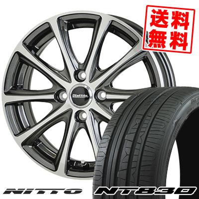 205/45R17 88W NITTO ニットー NT830 NT830 Laffite LE-04 ラフィット LE-04 サマータイヤホイール4本セット