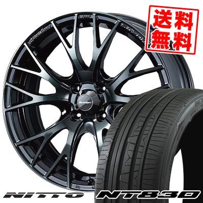 165/55R15 NITTO ニットー NT830 NT830 WedsSport SA-20R ウェッズスポーツ SA20R サマータイヤホイール4本セット