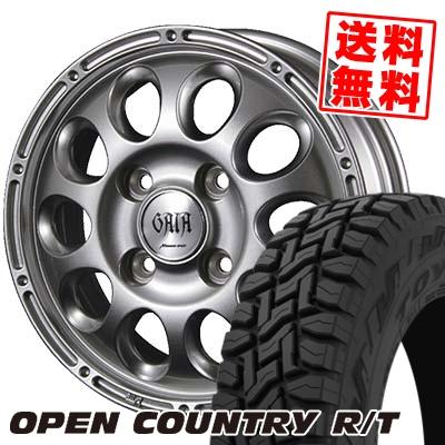 145/80R12 80/78N TOYO TIRES トーヨー タイヤ OPEN COUNTRY R/T オープンカントリー R/T GAIA BRIG ガイア ブリッグ サマータイヤホイール4本セット