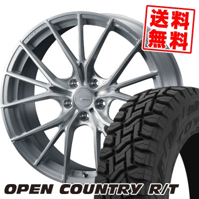 225/55R18 98Q TOYO TIRES トーヨー タイヤ OPEN COUNTRY R/T オープンカントリー R/T WEDS F ZERO FZ-1 ウェッズ エフゼロ FZ-1 サマータイヤホイール4本セット