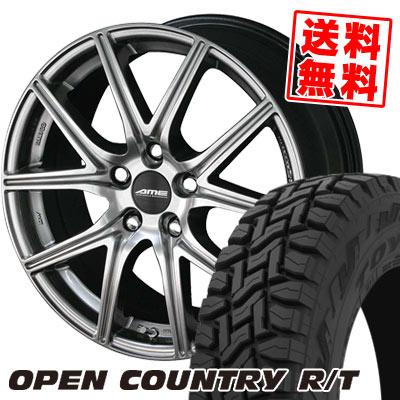 225/55R18 98Q TOYO TIRES トーヨー タイヤ OPEN COUNTRY R/T オープンカントリー R/T ENKEI AME FS-01 エンケイ AME FS01 サマータイヤホイール4本セット