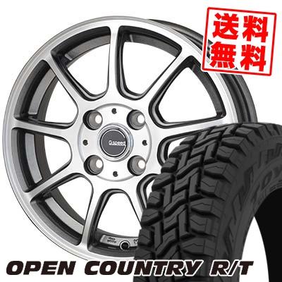 165/60R15 77Q TOYO TIRES トーヨー タイヤ OPEN COUNTRY R/T オープンカントリー R/T G.Speed P-01 Gスピード P-01 サマータイヤホイール4本セット