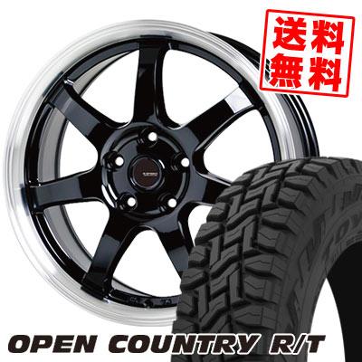 225/65R17 102Q TOYO TIRES トーヨー タイヤ OPEN COUNTRY R/T オープンカントリー R/T G.speed P-03 ジースピード P-03 サマータイヤホイール4本セット