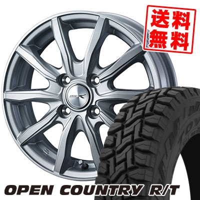 145/80R12 80/78N TOYO TIRES トーヨー タイヤ OPEN COUNTRY R/T オープンカントリー R/T JOKER SHAKE ジョーカー シェイク サマータイヤホイール4本セット