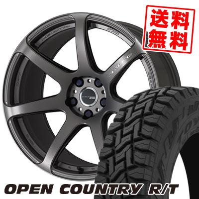 225/55R18 98Q TOYO TIRES トーヨー タイヤ OPEN COUNTRY R/T オープンカントリー R/T WORK EMOTION T7R ワーク エモーション T7R サマータイヤホイール4本セット