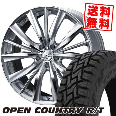 225/60R17 99Q TOYO TIRES トーヨー タイヤ OPEN COUNTRY R/T オープンカントリー R/T weds LEONIS VX ウエッズ レオニス VX サマータイヤホイール4本セット