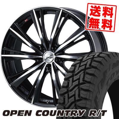 225/65R17 102Q TOYO TIRES トーヨー タイヤ OPEN COUNTRY R/T オープンカントリー R/T weds LEONIS WX ウエッズ レオニス WX サマータイヤホイール4本セット