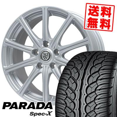 235/55R18 100V YOKOHAMA ヨコハマ PARADA SpecX PA02 パラダ スペックX PA02 TRG-SS10 TRG SS10 サマータイヤホイール4本セット