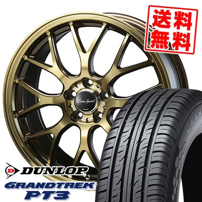 225/60R18 DUNLOP ダンロップ GRANDTREK PT3 グラントレック PT3 Eouro Sport Type 805 ユーロスポーツ タイプ805 サマータイヤホイール4本セット