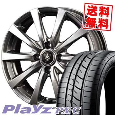 165/50R15 73V BRIDGESTONE ブリヂストン Playz PX-C プレイズ PX-C Euro Speed G10 ユーロスピード G10 サマータイヤホイール4本セット
