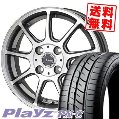 175/70R14 BRIDGESTONE ブリヂストン Playz PX-C プレイズ PX-C G.Speed P-01 Gスピード P-01 サマータイヤホイール4本セット