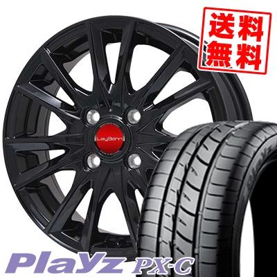 165/55R15 BRIDGESTONE ブリヂストン Playz PX-C プレイズ PX-C LeyBahn GBX レイバーン GBX サマータイヤホイール4本セット