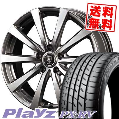 205/55R17 91V BRIDGESTONE ブリヂストン Playz PX-RV プレイズ PX-RV Euro Speed G10 ユーロスピード G10 サマータイヤホイール4本セット