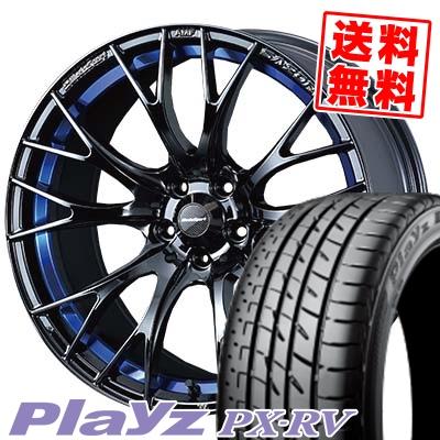 高品質 215/60R17 BRIDGESTONE ブリヂストン Playz PX-RV プレイズ PX-RV WedsSport SA-20R ウェッズスポーツ SA20R サマータイヤホイール4本セット, 横浜町 069192a9