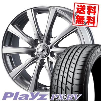 215/50R17 95V XL BRIDGESTONE ブリヂストン Playz PX-RV プレイズ PX-RV AZ sports YL-10 AZスポーツ YL-10 サマータイヤホイール4本セット
