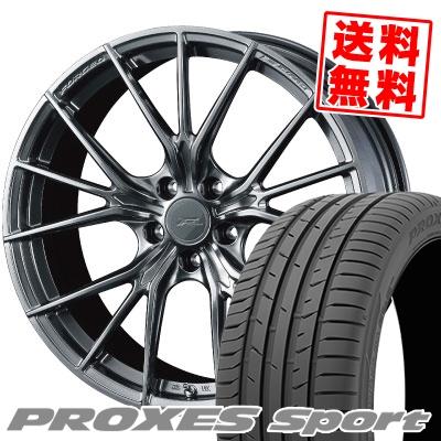 245/45R18 100Y XL TOYO TIRES トーヨー タイヤ PROXES sport プロクセス スポーツ WEDS F ZERO FZ-1 ウェッズ エフゼロ FZ-1 サマータイヤホイール4本セット
